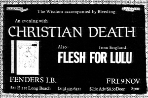 Christian Death and Flesh for Lulu at Fenders